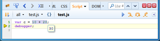 L'inpecteur d'expressions JavaScript
